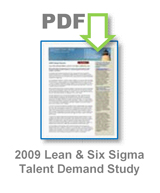 2009 Lean and Six Sigma Talent Demand Study