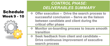 Lean Sigma Search - Control Deliverables
